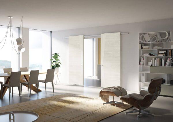 Pivato - Scorrevoli Special, Model Minimal Soft, Yellow Pine Spazzolato amb10 SCORREVOLE MINIMAL SOFT